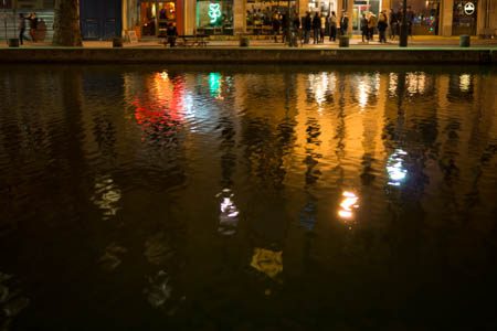 Night Colors on the Canal Saint-Martin · Quai de Jemmapes · Paris · 2013