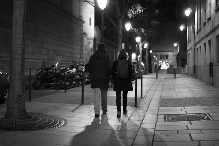 Walking Down the Street at Night · Rue des Archives · Paris · 2013