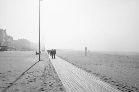 Boardwalk & Fog · Promenade des Planches · Trouville · Normandie · 2014
