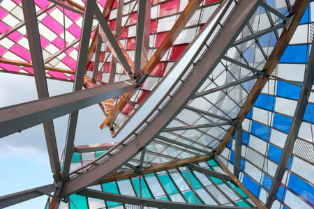 Modern Stained-Glass Window · Daniel Buren, L'Observatoire de la lumière · Fondation Louis Vuitton · 2016